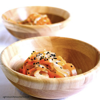 Daikon Salad with Sesame Oil Dressing