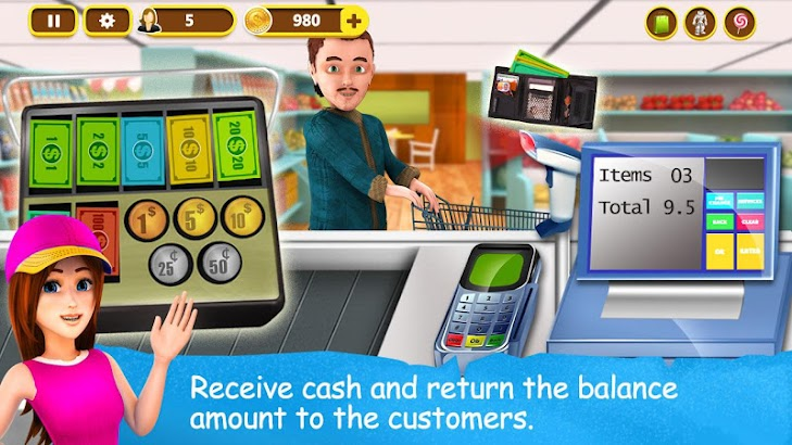 Supermarket Cash Register screenshot