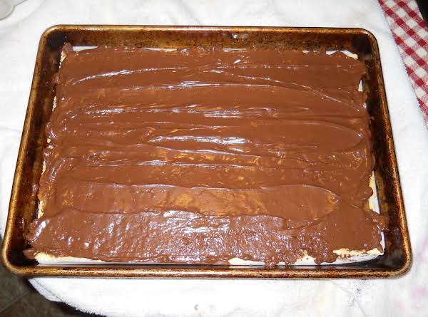 This Is Before It Was Chilled.  Just After The Chocolate Was Melted And Smoothed Out.