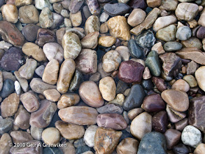 Photo: From a small stone beach outside Alta, Norway