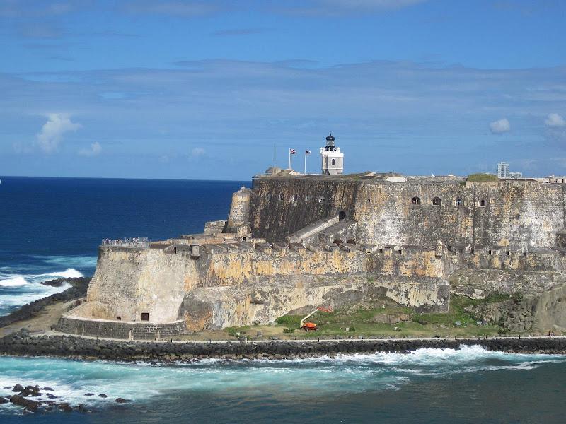 A monumental 16th-century Spanish citadel, Castillo San Felipe del Morro sits atop a cliffside promontory in San Juan, Puerto Rico.
