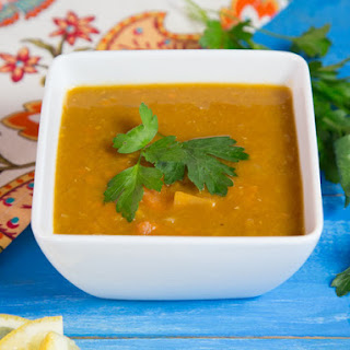 Smoky Lentil Sweet Potato Soup