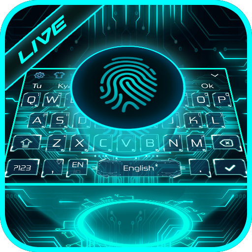 Live Fingerprint Keyboard Theme