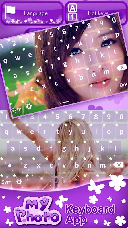 My Photo Keyboard App screenshots