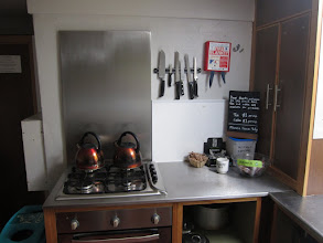 Photo: You can make your cuppa in this spotless kitchen.