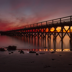 Moments in time by Michael Otero - Buildings & Architecture Bridges & Suspended Structures ( sunset, colors, long shutter, vibrant, rainbow colors, landscape )