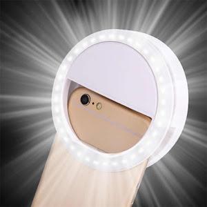 Inel luminos pentru selfie. Accesoriu LED tip clips pentru telefon.