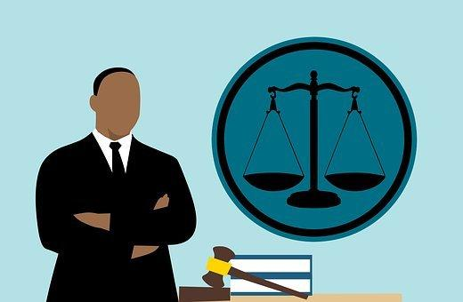 Lawyer, Judge, African, Cartoon, Man
