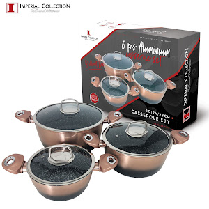 Set oale marmorate 6 piese - Imperial Collection IM-CAS3-FMT