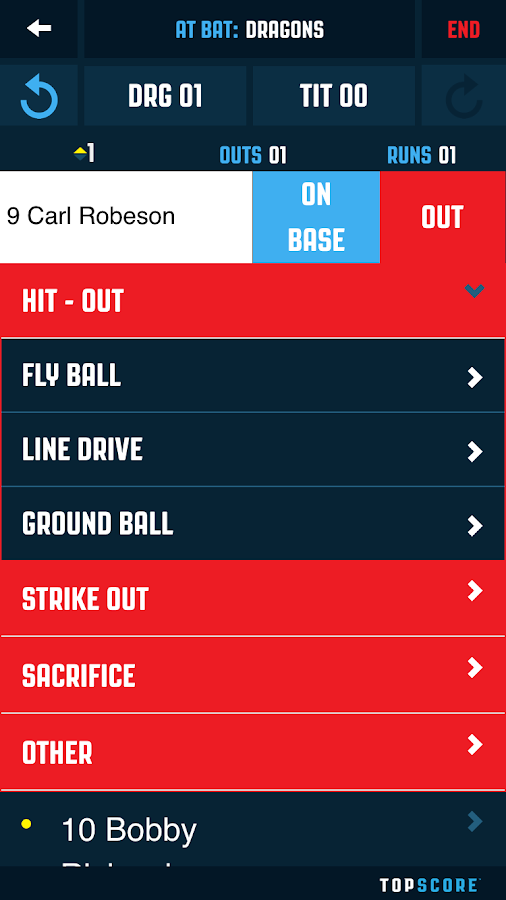 Top Score Baseball- screenshot