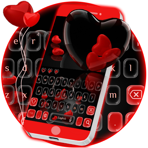 Red Love Hearts Keypad