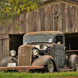 36 Chevy by Benito Flores Jr - Transportation Automobiles ( chevy, barn, truck, texas, 1936,  )