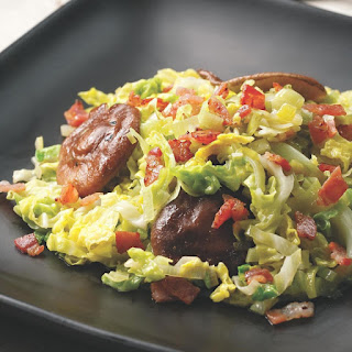 Skillet Cabbage with Bacon & Mushrooms.