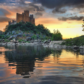 Almourol Castle by Luis Palma - Buildings & Architecture Public & Historical ( almourol castle portugal tejo river )