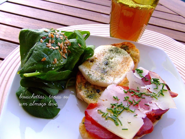 Summer Lunch Toast with Pork and Cheeses Recipe