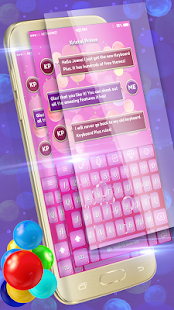 Sweet Colorful Bubbles Keyboard - náhled