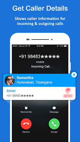 Mobile Number Location Tracker Android App Screenshot
