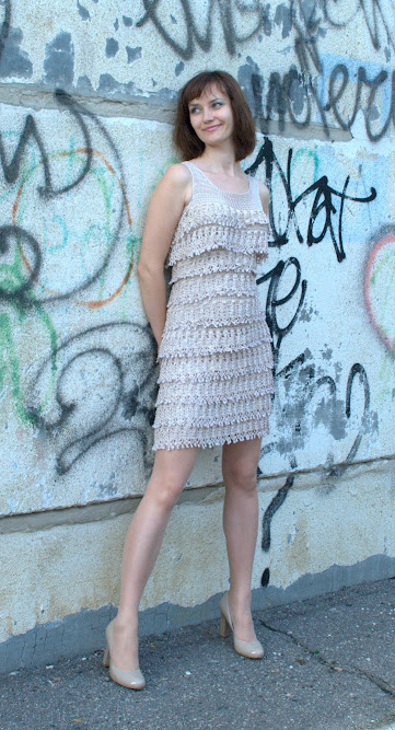 платье крючком чудо со схемой Miracle Crochet Dress With Scheme