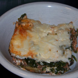 No Noodle Spinach Meat Lasagna