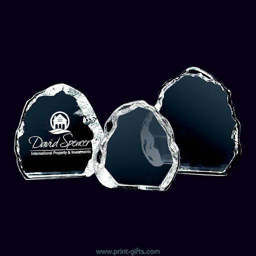 Engraved Optical Crystal Iceberg Awards