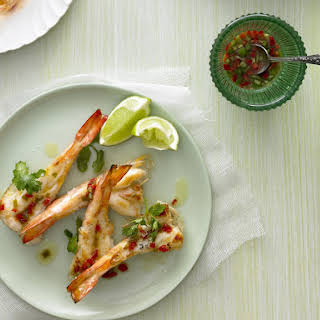 Grilled Shrimp with Chili Dressing.