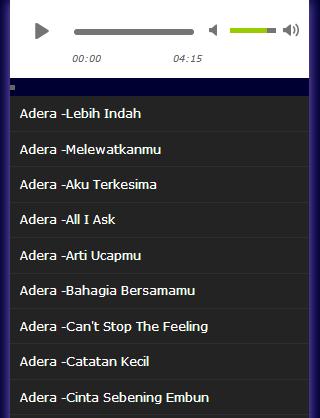 Download lagu adera.
