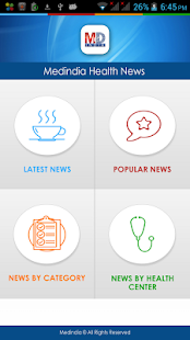 Medindia Health News- screenshot thumbnail