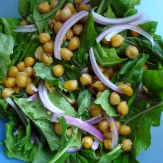 Warm Chickpea Salad with Arugula Recipe
