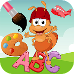 ABC coloring pages painting for kids learning 1.01