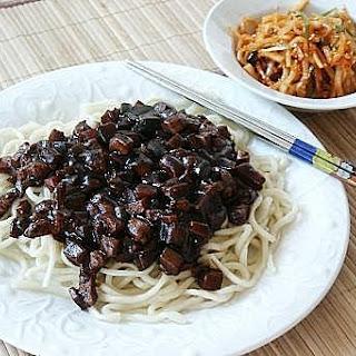 Korean Jajangmyeon (Noodle with Black Bean Sauce)
