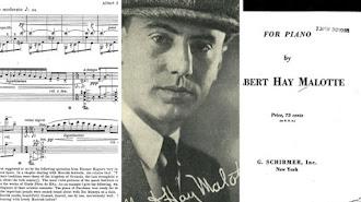 Partitura, retrato del compositor y detalle de la portada de la publicación en la que vio la luz la obra.