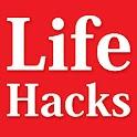 Life hacks and tricks DIY tips icon