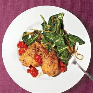 Roasted Chicken With Collards