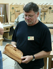 Photo: Richard Webster - figured koa square platter with exquisite chatoyance and figure