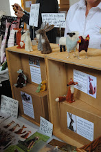 Photo: Needle felted little buddies. I fell in love with hare and fox.