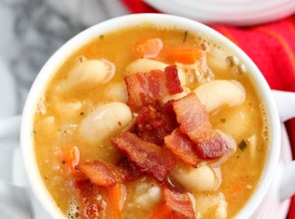 Creamy White Bean And Bacon Soup Recipe