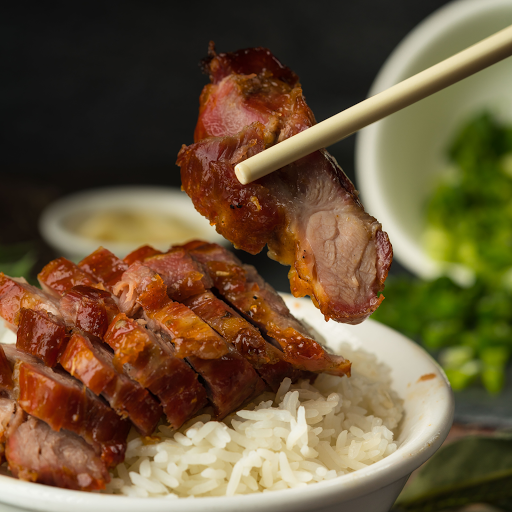 Rice with BBQ Pork