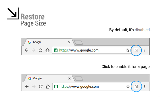 Restore Page Size