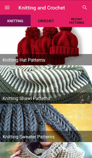 Knitting and Crochet Patterns - Free Knitting Apps for PC