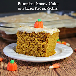 Pumpkin Snack Cake.