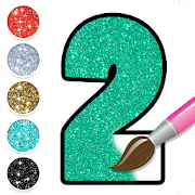 Glitter Number Coloring and Drawing Book For Kids