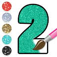 Glitter Number Coloring and Drawing Book For Kids icon
