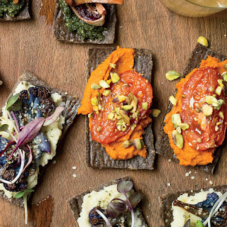 Moroccan Flatbreads with Roasted Tomatoes.