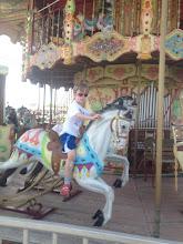 Photo: Sam on Carousel last weekend of June 2013