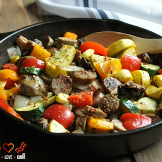 Chicken Sausage and Vegetable Skillet – Low Carb, Gluten Free