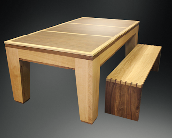 Spartan Dining Table and Bench
