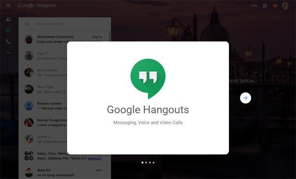 Hangouts Kini Miliki Landing Page Sendiri