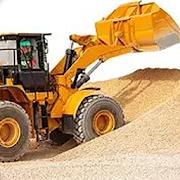 جرار الرمل حفارة تعمل