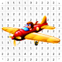 Airplane Color By Number - Pixel Art icon