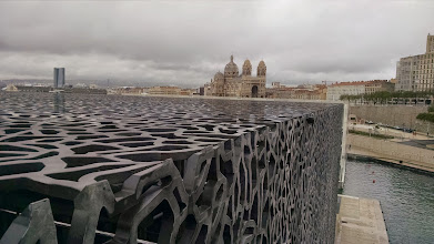 Photo: Mucem in the foreground and the Catedrale de la Major in the background